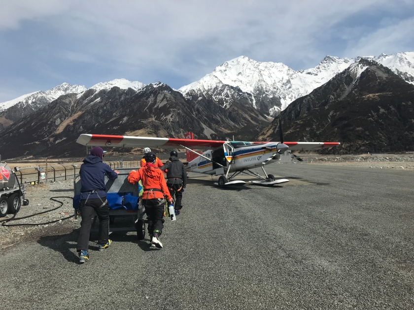 Loading ski plane tas first trip